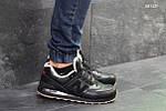 Мужские кроссовки New Balance  574 (черные/рыжие) ЗИМА, фото 2