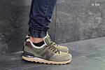 Мужские кроссовки New Balance  574 (хаки) ЗИМА, фото 2