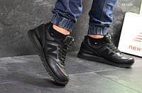 Мужские кроссовки New Balance 574 (черные) ЗИМА