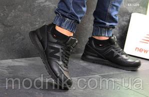 Чоловічі кросівки New Balance 574 (чорні) ЗИМА