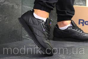 Чоловічі кросівки Reebok Classic (чорні) ЗИМА