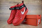 Мужские кроссовки Nike Air Force 1 LV8 High (красные) ЗИМА, фото 2