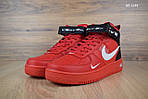 Мужские кроссовки Nike Air Force 1 LV8 High (красные) ЗИМА, фото 3