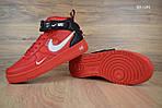 Мужские кроссовки Nike Air Force 1 LV8 High (красные) ЗИМА, фото 4