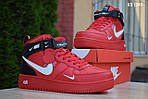 Мужские кроссовки Nike Air Force 1 LV8 High (красные) ЗИМА, фото 5