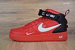 Мужские кроссовки Nike Air Force 1 LV8 High (красные) ЗИМА, фото 6