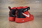 Мужские кроссовки Nike Air Force 1 LV8 High (красные) ЗИМА, фото 8