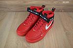 Мужские кроссовки Nike Air Force 1 LV8 High (красные) ЗИМА, фото 9