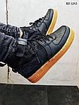 Мужские кроссовки Nike SF Air Force 1 Mid (черные), фото 2
