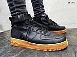 Мужские кроссовки Nike SF Air Force 1 Mid (черные), фото 4