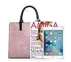 Набор женских сумок 3 предмета с брелком розового цвета BA-2, фото 5