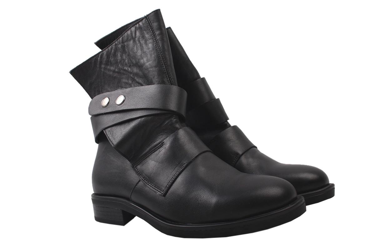 Ботинки женские Aquamarin натуральная кожа, цвет черный, размер 36-40, Турция