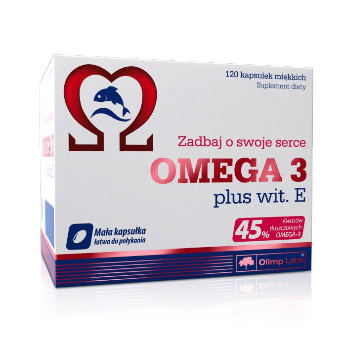 Омега 3 Olimp Omega 3 45% + vit E (120 капс) рыбий жир олимп