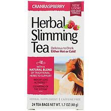 """Травяной чай для похудения, 21st Century """"Herbal Slimming Tea"""" вкус клюквы, без кофеина, 24 пакетика (48 г)"""