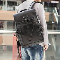 Мужской городской рюкзак из эко кожи для ноутбука 15,6 дюйма