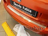 Skoda Fabia Накладка на задній бампер Натанико