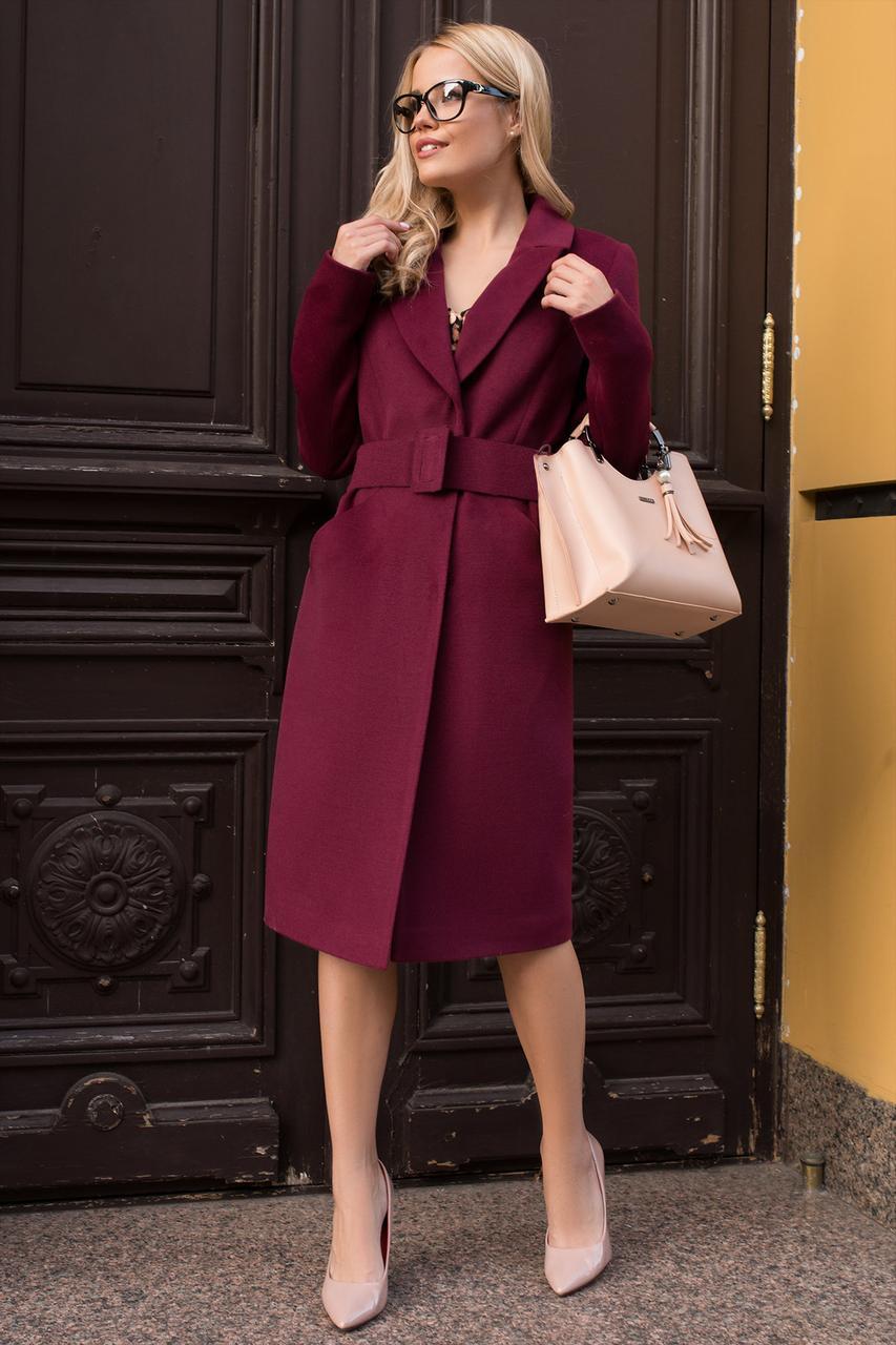 Кашемірове бордове пальто осінь весна (р. S, M, L) арт. К-79-68/43928