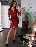 Женское элегантное кружевное платье (в расцветках), фото 5