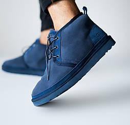 Мужские зимние ботинки UGG Australia Neumel Black Navy Blue. Живое фото (Реплика ААА+)