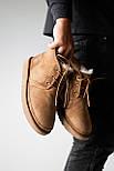 Мужские зимние ботинки UGG Australia Neumel Chestnut. Живое фото. Премиум реплика, фото 4
