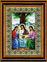 """Набор для вышивания крестом """"Икона Пресвятой Троицы"""" №344 """"Чарівна Мить"""""""