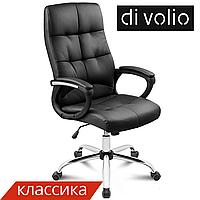 Офисный стул Manager black DiVolio до 150 кг. Экокожа