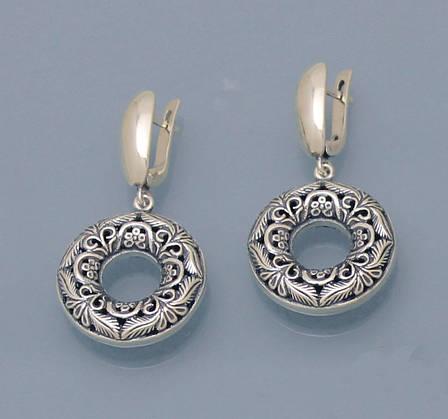 Сережки зі срібла 925 проби ., фото 2