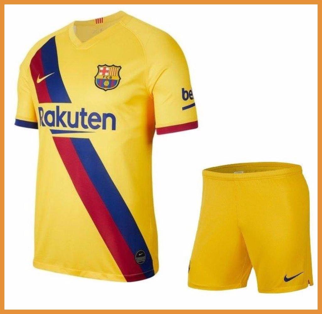 Футбольная форма Барселона, выезд-желтый (Barcelona) сезон 19/20