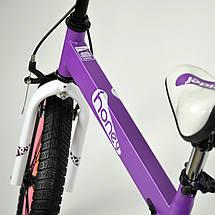 """Велосипед детский RoyalBaby HONEY 12"""", OFFICIAL UA, фиолетовый, фото 2"""