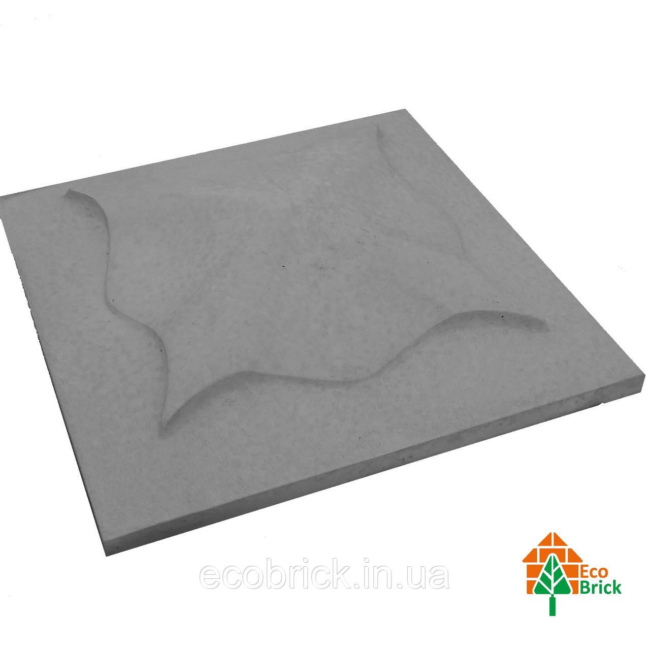 Крышки кирпичного забора «КВІТКА» 450х450 мм. цвет серый,вес 24 кг.