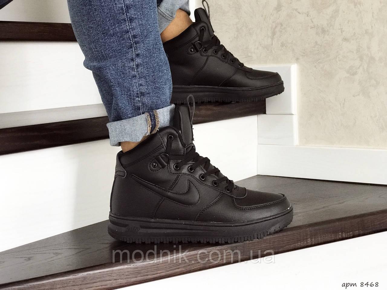 Мужские зимние кроссовки Nike Lunar Force 1 (черные)