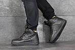 Мужские зимние кроссовки Nike Lunar Force 1 (черные), фото 2