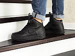 Мужские зимние кроссовки Nike Lunar Force 1 (черные), фото 3