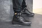 Мужские зимние кроссовки Nike Lunar Force 1 (черные), фото 4