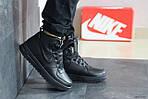 Мужские зимние кроссовки Nike Lunar Force 1 (черные), фото 5