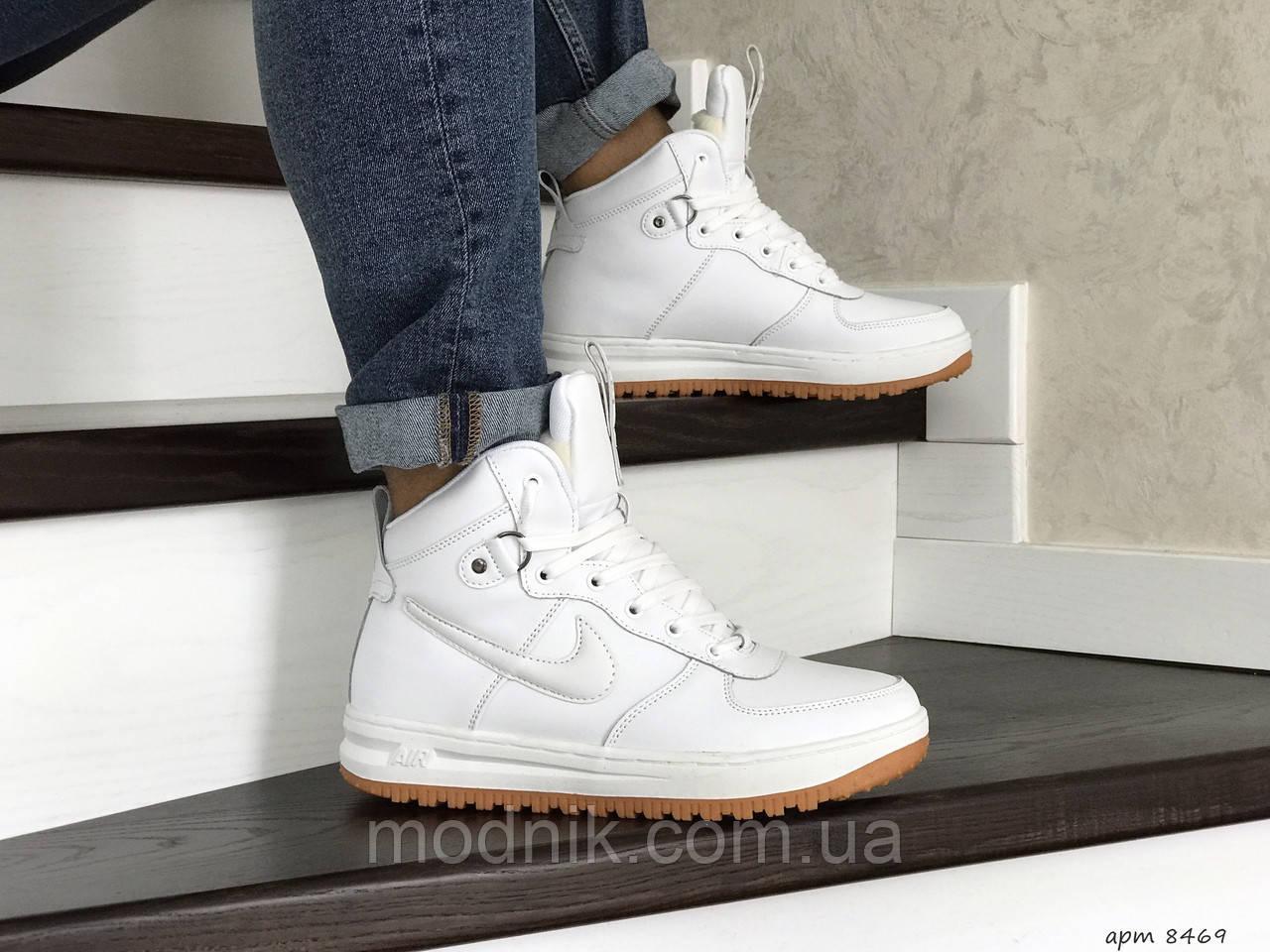 Мужские зимние кроссовки Nike Lunar Force 1 (белые)