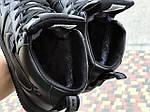 Мужские кроссовки Nike Air Force (черные) ЗИМА, фото 6