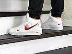 Мужские кроссовки Nike Air Force (бело-красные) ЗИМА, фото 4
