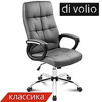 Офисный стул Manager grey DiVolio до 150 кг. Экокожа