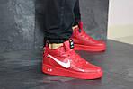 Мужские кроссовки Nike Air Force (красные) ЗИМА, фото 2