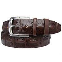 Ремень мужской кожаный JK-4090 Brown (4 см)