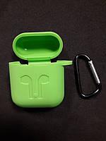 Чохол для навушників case Apple Airpods зелений