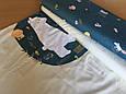 Сатин (хлопковая ткань) на бирюзе разные звери (компаньон)(80*160), фото 2