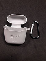 Чехол для наушников case Apple Airpods светло серый