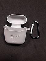 Чохол для навушників case Apple Airpods світло сірий