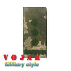 Погон ЗСУ Полковник (тк.NDU) 10*5см (3872)