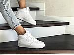 Женские кроссовки Nike Air Force (белые) ЗИМА, фото 2