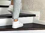 Женские кроссовки Nike Air Force (белые) ЗИМА, фото 3