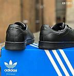 Мужские кроссовки Adidas Stan Smith (черные), фото 3