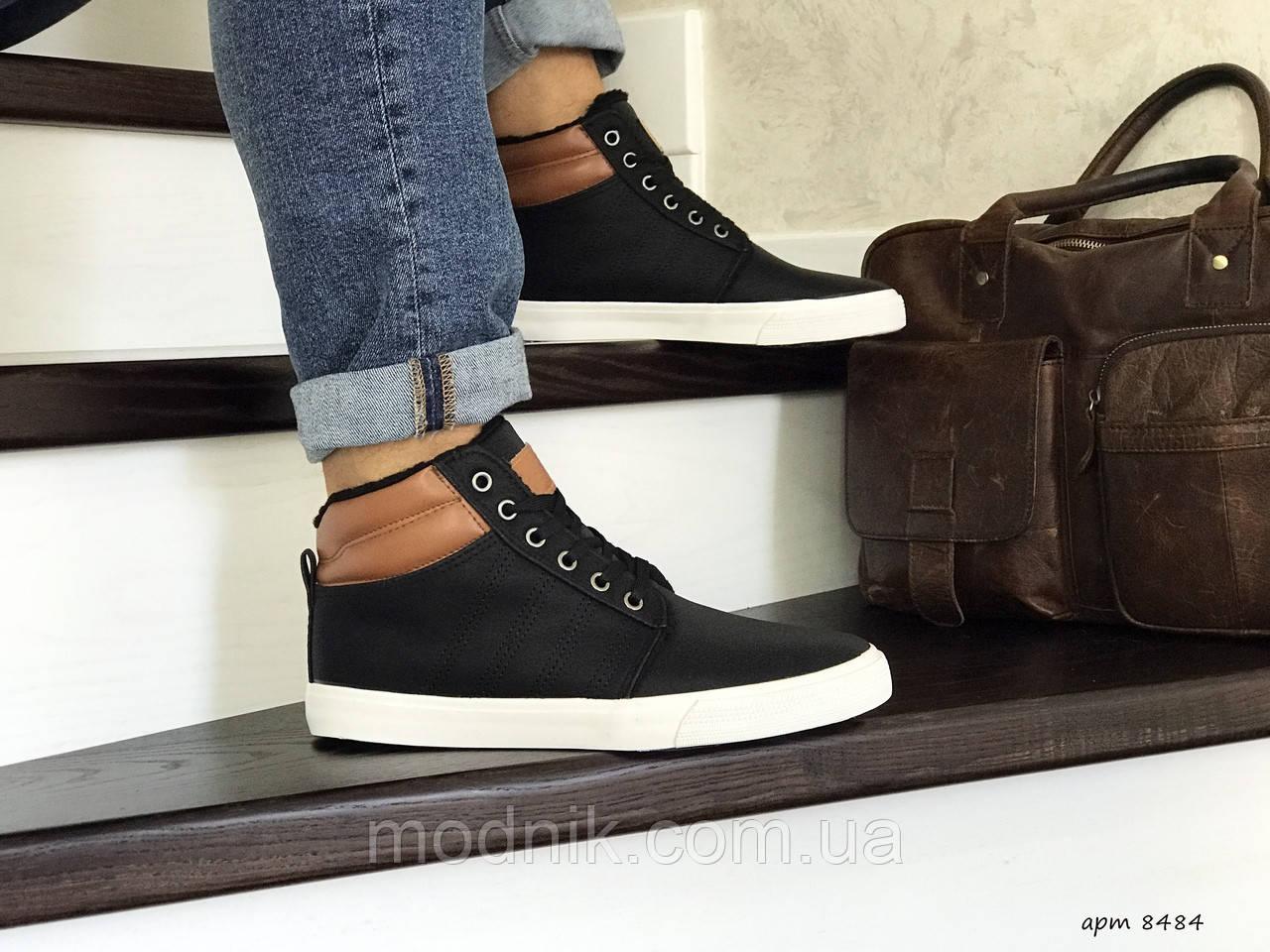 Мужские ботинки Vintage (черно-белые) ЗИМА